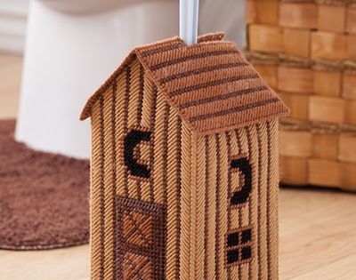 Plastic Canvas Patterns To Hold And Hide A Toilet Brush
