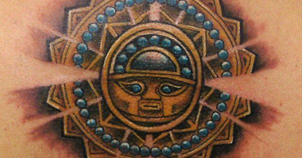 silver sun tattoo aztec tattoos aztec mayan inca tattoo designs instant download cool. Black Bedroom Furniture Sets. Home Design Ideas