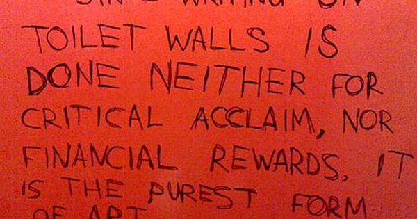 Bathroom Wall Writing wins of the week – bathroom graffiti