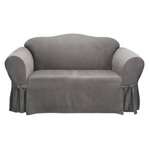 Soft Suede Loveseat Slipcover Sure Fit Loveseat Slipcovers Love Seat Slip Covers Couch