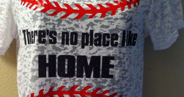 Baseball mom shirt, no place like home, burnout, bling n' sports