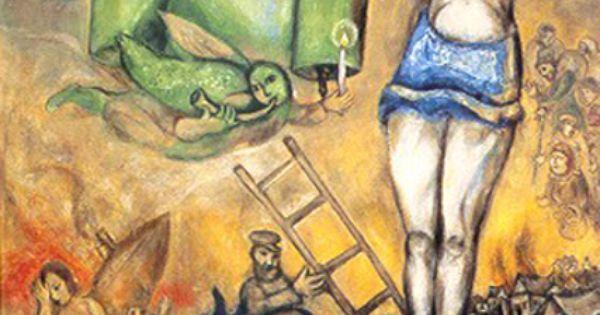 Marc Chagall – Crocifissione in giallo, 1938-42. Parigi ... Chagall Crucifixion In Yellow