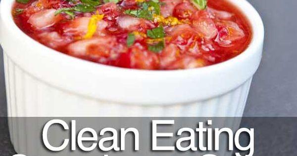 This strawberry salsa looks delish! puredlight health food