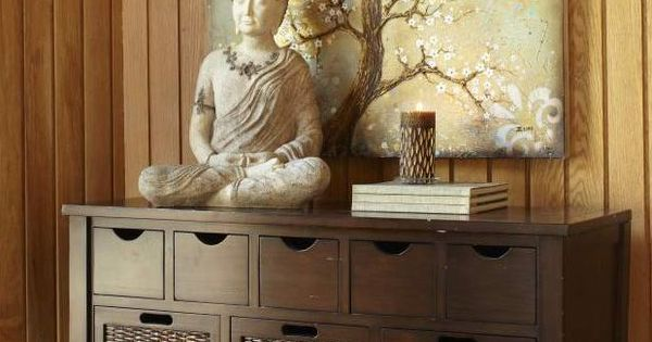 Buddha Peaceful Corner Zen Home Decor Interior Styling: Bring Serenity Into A Room By Combining Buddha Statues