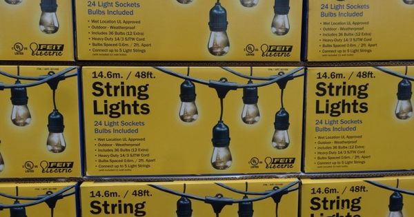 Best outdoor string lights! USD 59 costco Feit Electric 48 Ft Home. Pinterest Outdoor string ...