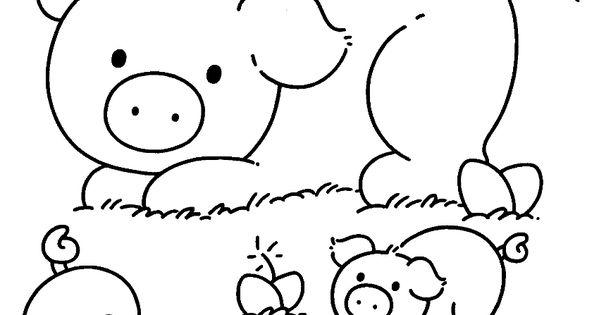 farmer in the dell coloring pages | Kleurplaat: varkens - boerderij | Pinterest - Varkens ...