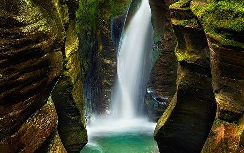 Corkscrew Falls, Hocking Hills, Ohio - Located in the picturesque sandstone region