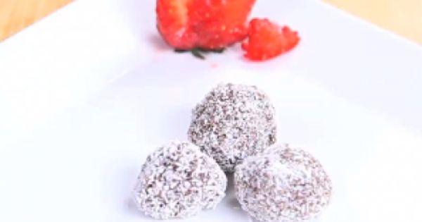 طريقة عمل وصفة كرات الشوكولاتة من زيتونة Food Dessert Recipes Recipes