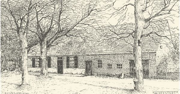 Rijksmonument boerderij de heestert postelseweg 97 louwers p c tekenaar 1990 eersel - Te nemen afscheiding ...