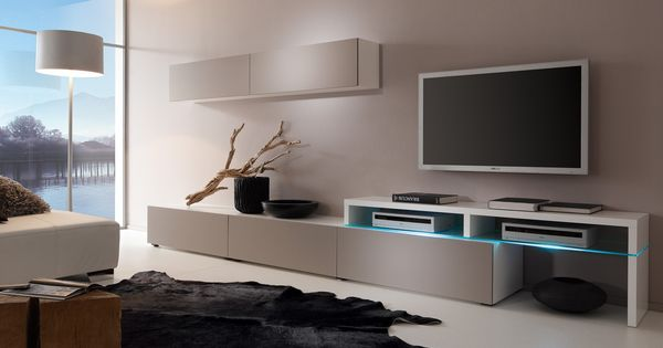 wohnwand patricia modernes ambiente im wohnzimmer. Black Bedroom Furniture Sets. Home Design Ideas