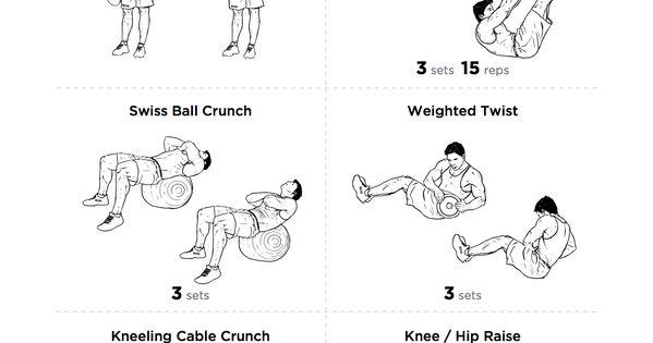 printable abs workout routine
