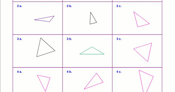 Worksheets For Classifying Triangles By Sides Angles Or