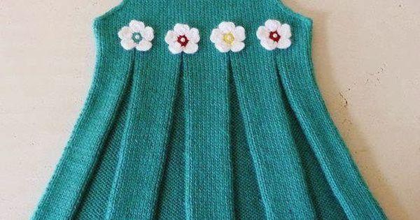 Clara Dress Knitting Pattern : GuVEN BEBE: Kiz cocuk orgu BEBEK uRuNLER? Pinterest Knitting patterns, ...