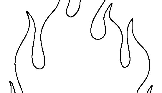 Fire Pattern. Use The Printable Outline For Crafts