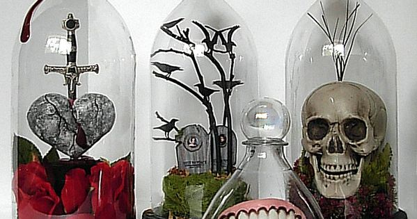 Soda Bottle Bell Or Cloche Jars for Halloween decor - DIY tutorial