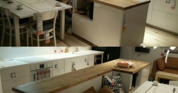 Gezien bij ikea geweldig keukeneiland met bank keuken pinterest keukeneiland geweldig - Credence keuken wit ...