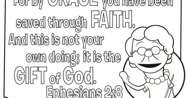 Grace And Faith Coloring Page Witb Pinterest Faith
