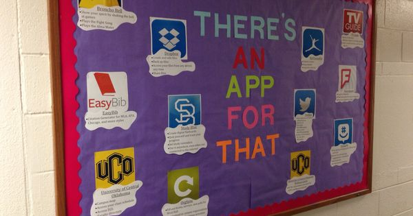 September Bulletin Board There S An App For That September Bulletin Boards App Bulletin Boards