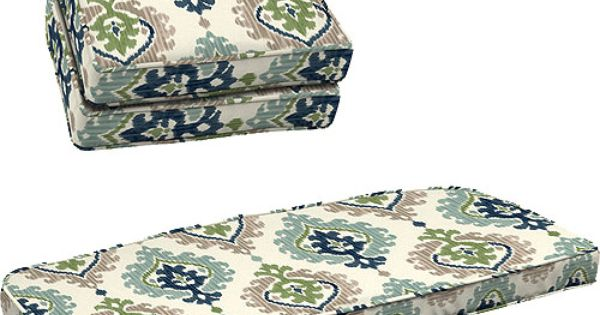 Better Homes And Gardens 3 Piece Wicker Cushion Set Ikat