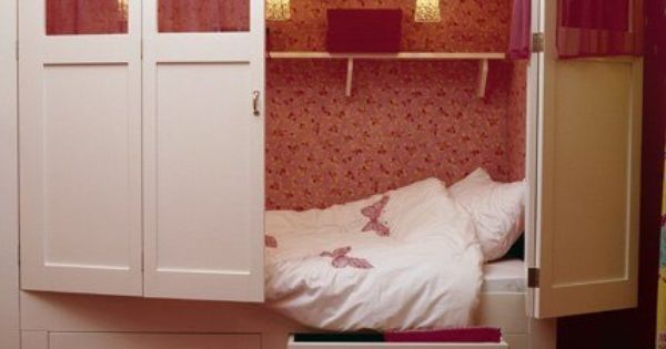transform an armoir into a hidden bed! perfect for a studio apartment,
