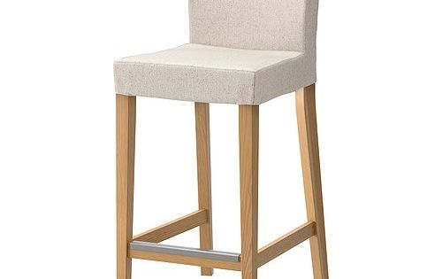 Henriksdal Bar Stool With Backrest Ikea The Padded Seat