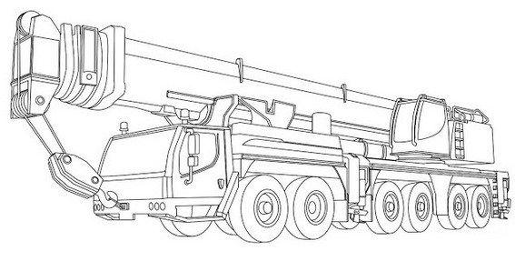Realistic Crane Truck Design Coloring Sheet Truck Coloring Pages Truck Design Coloring Sheets