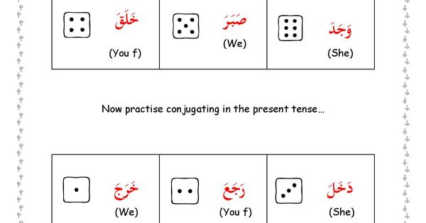 100+ Arabic Verb Measure Chart – yasminroohi