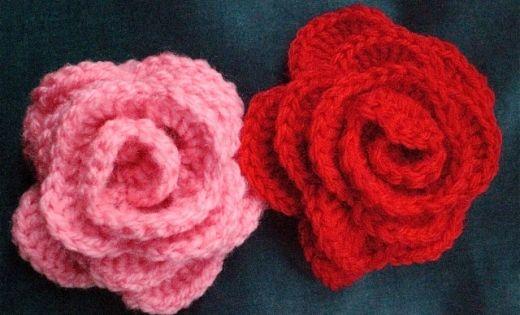 Crocheted Roses Easy Crochet Pinterest Rose Patterns