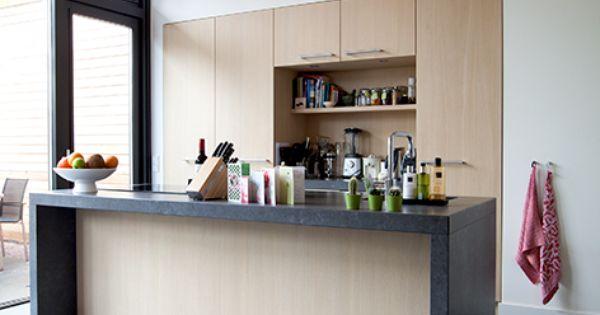 Kitchen extension/ Keuken aanbouw in ecologische houtskeletbouw ...