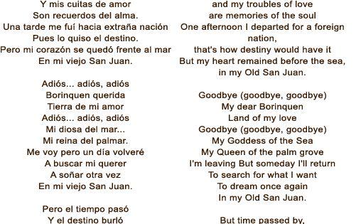 Noel estrada en mi viejo san juan lyrics