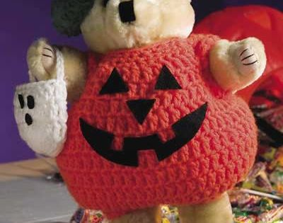 Lil' Boo Bear -This purchased teddy bear is all decked out ...