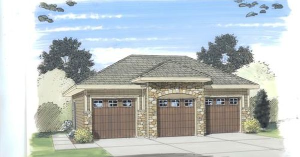 26 X 36 X 11 3 Car Garage With Fancy Hip Roof Garage Style Garage Design 3 Car Garage Plans