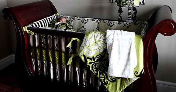 Baby Girl. Will look great with Babies Crib. Black, White & Lime