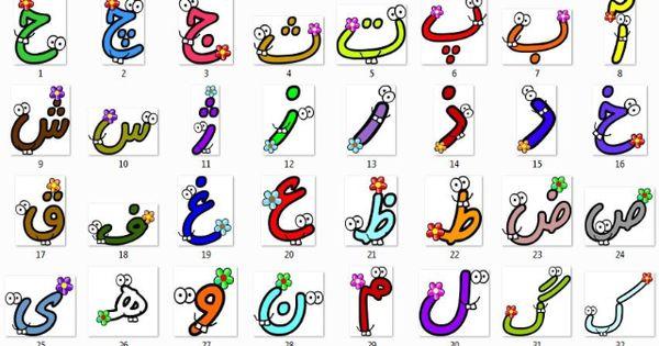 تصاویر کارتونی از نقاشی با حروف الفبای فارسی والدین کودکان دبستانی ببینند تصاویر Typography Fonts Alphabet Islamic Kids Activities School Wall Art
