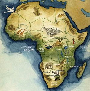 Safari Africa Map Guide to Planning an African Safari | African safari, Africa