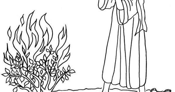 Moses Coloring Pages Burning Bush