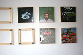 Diy Vinyl Display That S Cheap And Swappable Vinyl Record Display Diy Vinyl Record Wall Display