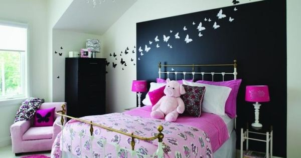 jugendzimmer m dchen gestalten ideen wand deko schmetterlinge kinderzimmer pinterest deko. Black Bedroom Furniture Sets. Home Design Ideas
