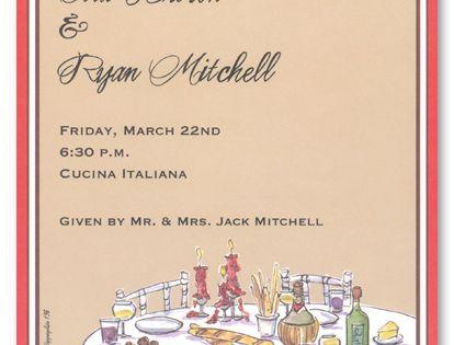 rehearsal dinner invitations elegant italian dinner 5128 rehearsal invites pinterest
