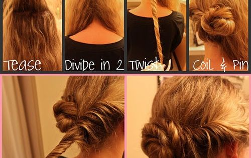 Hair Styles: Coiled Bun - Updo