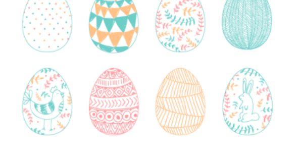 Descargable plantilla con 6 dise os de huevos de pascua for Plantillas mr wonderful