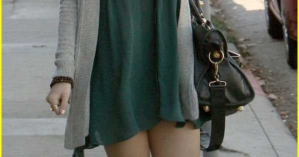 Vanessa Hudgens Fashion Style. Dress, Shawl, knee highs, and boots