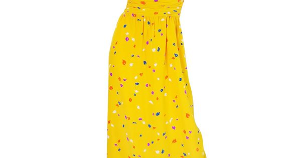 1970s Oscar De La Renta Silk Maxi Dress. To die for!