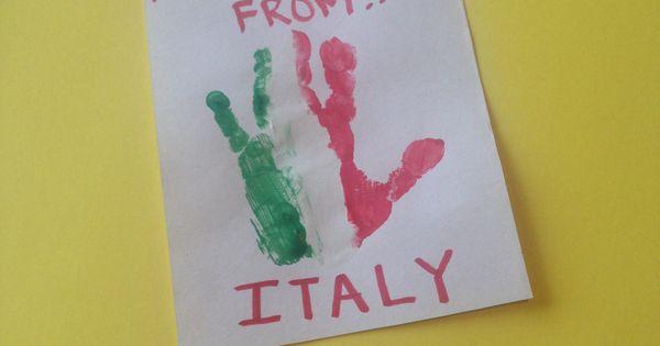 Cultural Diversity Italian Flag Handprint Jen S