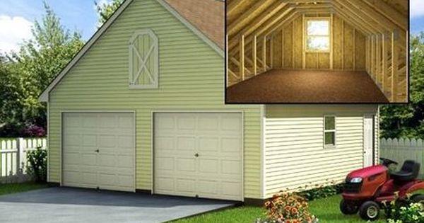 Build A 24 X 24 Garage With Loft Diy Plans Fun To Build Save Money Garage Plans With Loft Garage Plans Garage Loft