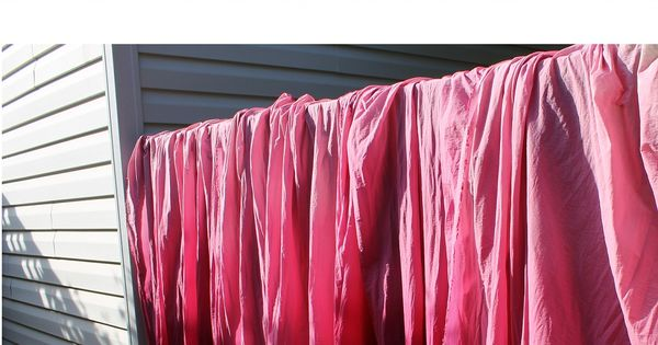 Curtains off the deck! Cute idea! DIY Ombre curtains for our back