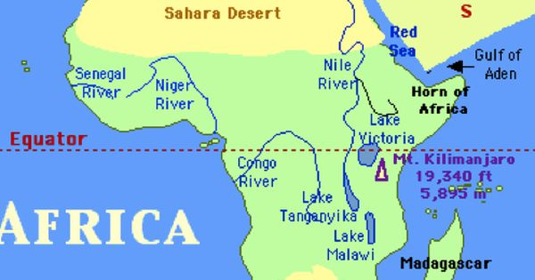 map of africa showing sahara desert maps pinterest