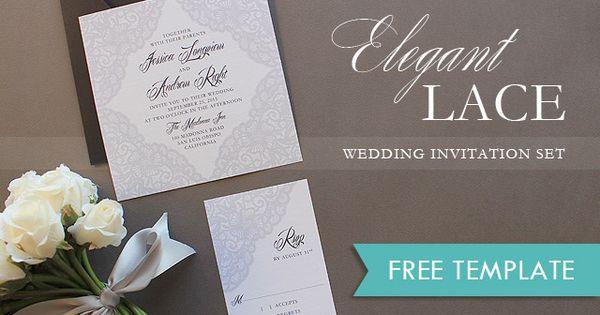 Lace Wedding Invitation Template: Free Printable Elegant Lace #wedding Invitation Template