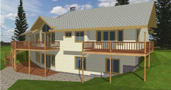 One Of Our Concrete Block Icf Design House Plans With A