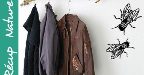 porte manteau branche d 39 arbre recyclage et r cup. Black Bedroom Furniture Sets. Home Design Ideas